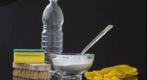 Herramientas e ingredientes para la limpieza.