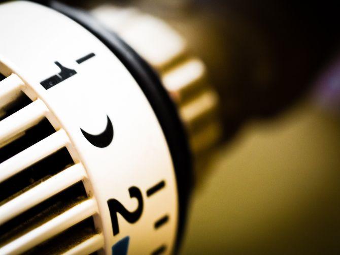 ajuste de calefacción de gas