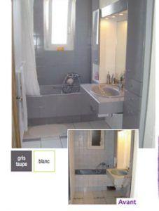 Pintura de baño.  Baño completamente rediseñado con pintura para bañera sanitaria y azulejos Résinence Color