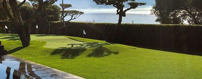 césped artificial campo mini golf