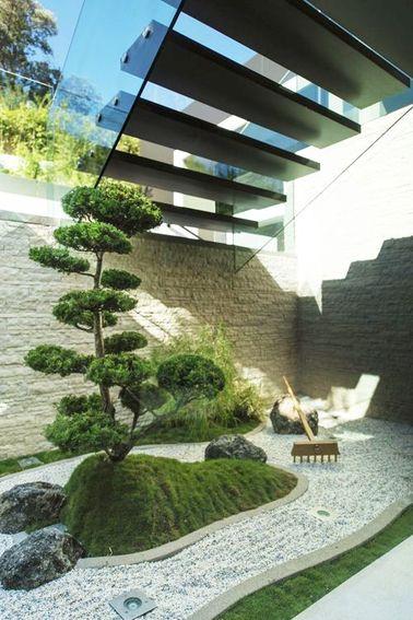 ¡El jardín Zen proviene de Japón, donde el bonsái es casi una religión!  Este árbol en miniatura cuyo crecimiento se ha visto frustrado adquiere un aspecto majestuoso cuando llega a los veinte años.