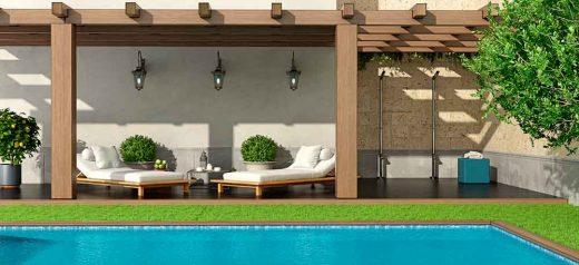ideas para decorar alrededor de la piscina