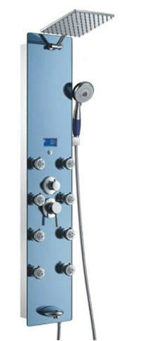 Panel de ducha SPV878392H de acero inoxidable Blue Ocean con cabezal de ducha tipo lluvia