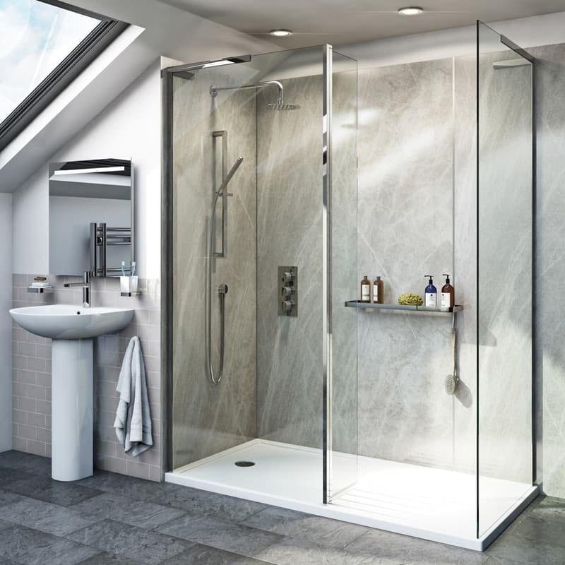 Modalidad paquete de cabina de ducha de 8 mm con panel de retorno y plato de ducha