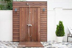 Plato de ducha exterior