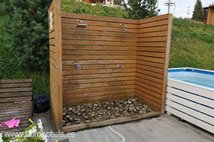 Plato de ducha jardín
