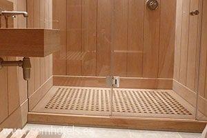 Plato de ducha madera