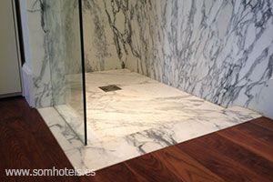 Plato de ducha mármol