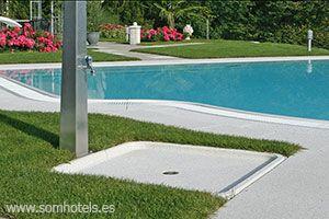 Plato de ducha piscina
