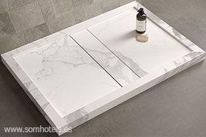 Plato de ducha porcelánico