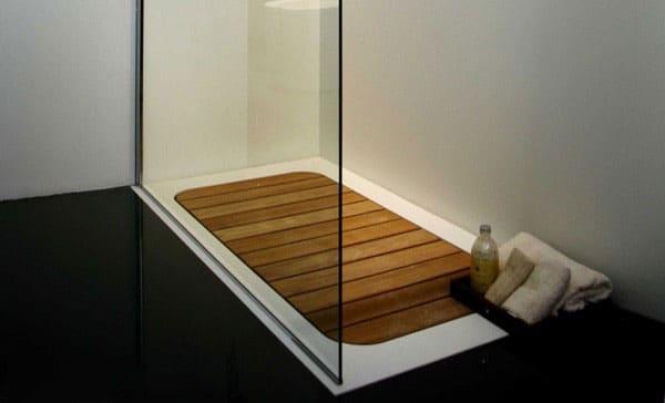 madera de teka para plato de ducha